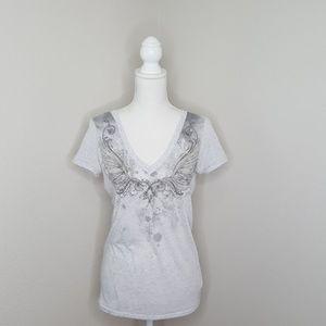 Miss Me Grey Embellished Top